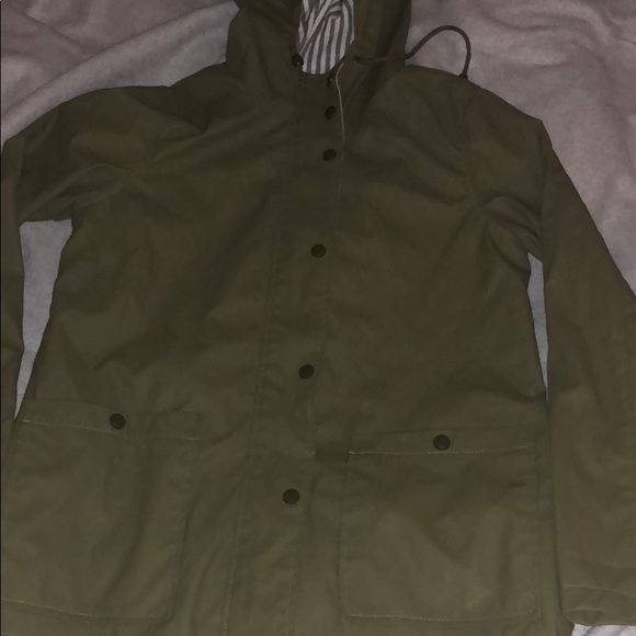 top-rated hot-selling clearance sophisticated technologies Olive green rain jacket